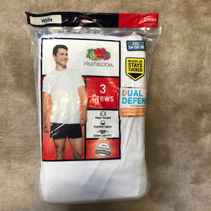 Fruit of the Loom 3 pack crew T shirts 3XL